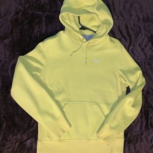 Nike pullover fleece hoodie Volt Yellow mens small